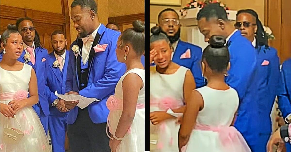 adoption proposal at wedding
