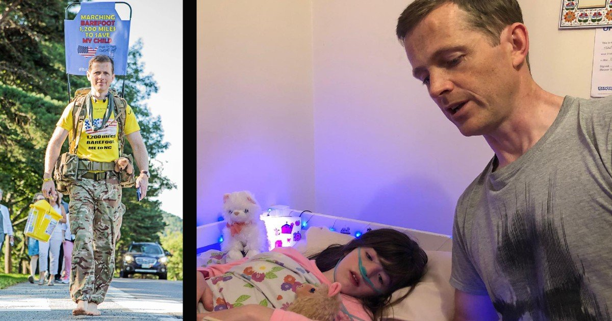 to walk barefoot dad's vow to save daughter