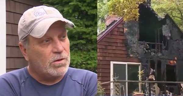 man saves neighbor from fire