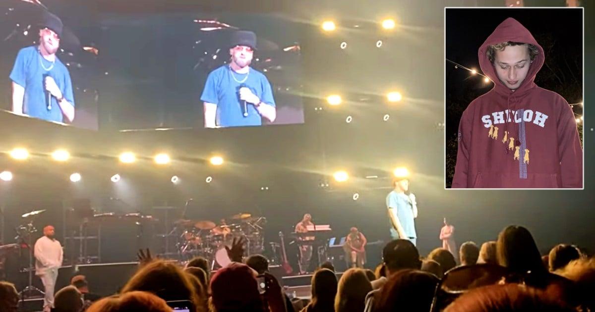 singer tobymac in concert talks son truett death